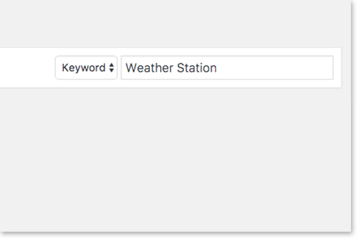 Step 2: search for Weather Station.